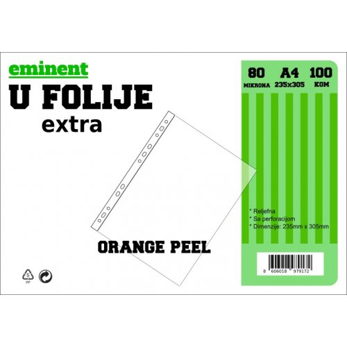 Folija U 80mic 1/100 orange peel