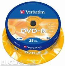 DVD-R 4.7gb 16x 1/25 Verbatim