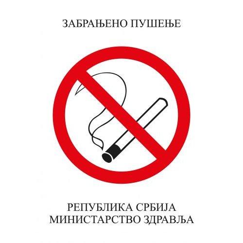 Nalepnica A4 zabranjeno pušenje