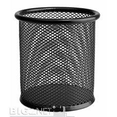 Čaša za olovke okrugla žičana crna