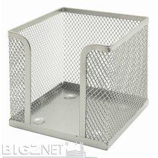 Blok kocka žičana 9*9*9cm srebrna