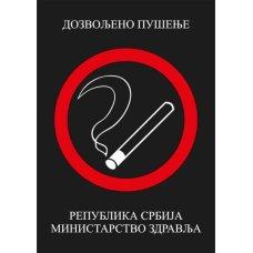 Nalepnica A4 Dozvoljeno pušenje