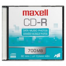 CD-R 52x 700 mb slim 1/1 Maxell