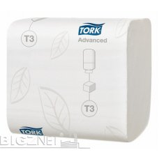Toalet papir za Tork aparat t3 u listićima advans, 240/1