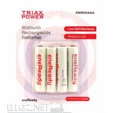 Baterija Triax punjiva LR03 AAA 900mAh 1/4