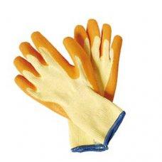 Rukavice štrikane, anatomske, oranž, potopljene u latex DIP