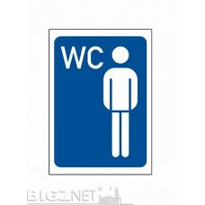 Nalepnica A7 WC muški