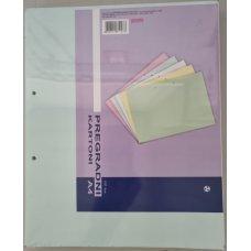 Pregradni karton 240x296 plavi pastel