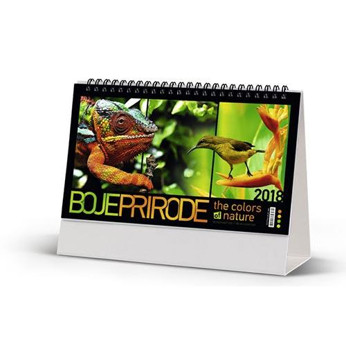 Promotivni stoni kalendar boje prirode