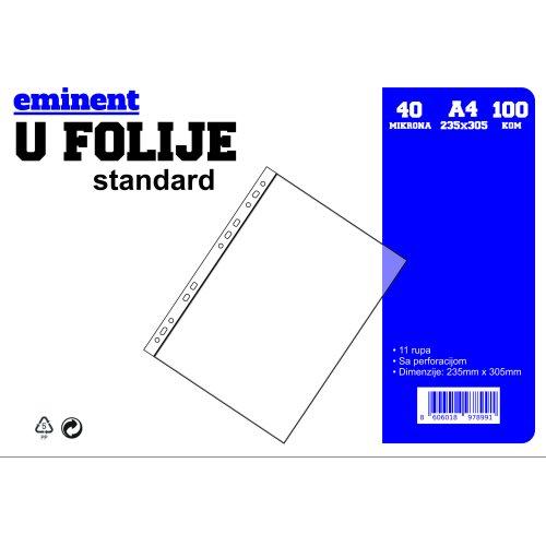 """Folija U Eminent standard 40 mikrona """"orange peel"""" 1/100"""
