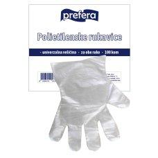 Rukavice polietilenske Prefera 1/100