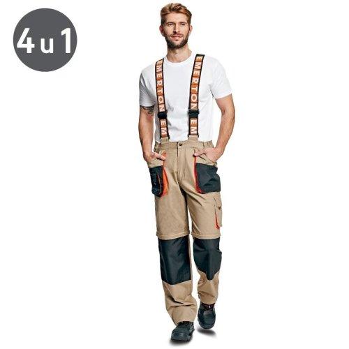 Letnje radne pantalone sa nogavicama koje se skidaju
